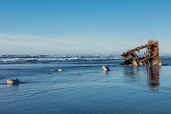 2016-01-10 - Peter Iredale Shipwreck-51 (www.bazpics.com) Tags: ocean sea usa beach water oregon america skeleton sand ship pacific or wave peter shipwreck frame hull wreck iredale