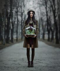 *** (IrinaDzhul) Tags: road portrait people woman plants girl beautiful hat hair spring model legs popular portreit