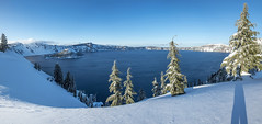 Winter at Crater Lake (acase1968) Tags: blue winter shadow lake snow oregon nikon skies cloudy sunny clear crater d750 photomerge nikkor partly f4g 24120mm 10photo