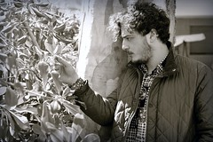 How Does Your Garden Grow? (Steve Lundqvist) Tags: trees boy portrait plant man tree guy shirt garden kid quilt jacket curly ritratto ragazzo menswear