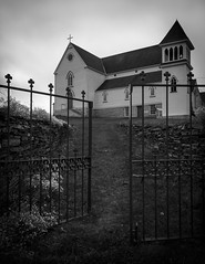 Take Me To Church (Bert CR) Tags: vacation blackandwhite bw history church fence newfoundland blackwhite gate spirit religion hopes reverence ages prayers spiritualism skancheli