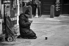Poverty in Paris (Bcasso) Tags: poverty blackandwhite bw paris france canon blackwhite contemporary homeless streetlife lonely hungry starving pauvret capitalcities 40d povertyinparis bcasso pauvretenparis bthorissgmailcom bjornthorisson copyrightbjornthorisson