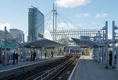 IMGP9081 (mattbuck4950) Tags: england london march europe unitedkingdom bridges canarywharf railways gbr docklandslightrailway 2016 poplardlrstation londonboroughoftowerhamlets 1westindiaquay lenssigma18250mm camerapentaxk50