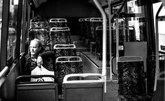 (paralelsuns85) Tags: blackandwhite bw man bus male ride transport commute lone canonef2470mmf28lusm canon6d