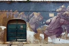 Fachada de Lagos (John LaMotte) Tags: fachada puerta porta portugal door graffiti infinitexposure dibujo lagos algarve ilustrarportugal