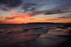 Sunset in Cinquale (ginevrachini) Tags: blue sunset sea sky orange colors clouds seaside nikon italia tramonto waves toscana seashore flickrsunset nikonitalia