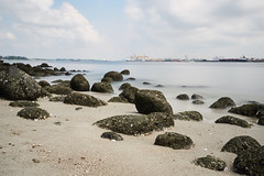 Punggol Beach (mcartmell) Tags: longexposure beach singapore rocks punggol