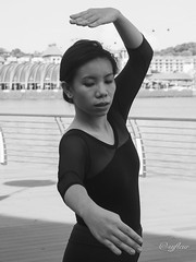 Portraits of a Ballet Student (syfleur) Tags: portrait bw ballet singapore outdoor boardwalk harbourfront sentosa