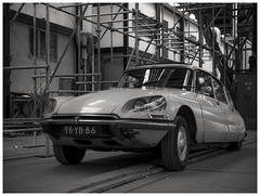 Shere beauty (Harry -[ The Travel ]- Marmot) Tags: auto blackandwhite bw holland classic colors monochrome dutch car amsterdam vintage french construction iron scaffolding zwartwit steel stage ds rusty citron oldtimer frans crusty francais pijp ndsm noord youngtimer steiger steigers autmobile amsterdamnoord desse staal pijpen monochroom constructie schwarzweis kunststad steigerpijpen olympusomdem5 allrightsreservedcontactmebyflickrmail