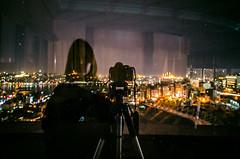 A mirror runs through it (Melissa Maples) Tags: longexposure woman selfportrait black reflection me water skyline night turkey dark lights hotel nikon asia photographer trkiye istanbul melissa brunette nikkor maples strait bosphorus vr afs  goldenhorn 18200mm  f3556g  18200mmf3556g europlaza d5100