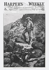"Harper's Weekly Vol. 30, No. 1550 (September 4, 1886). ""Abandoned"" by Frederic Remington (lhboudreau) Tags: horses horse southwest art abandoned hat harpers cowboys illustration magazine newspaper cowboy gun coverart rifle newspapers journal illustrations engraving western civilization canteen magazines cowboyhat harper frontpage 1886 frontier americanwest harpersweekly deadhorse remington magazineart engravings titlepage americansouthwest woodengraving thewest fredericremington woodengravings canteens americanfrontier volume30 ajournalofcivilization journalofcivilization volume30number1550 september41886"