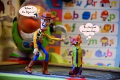 Woody and Nick (Tsubasa Make up doll) Tags: toystory woody zootopia revoltech nickwilde