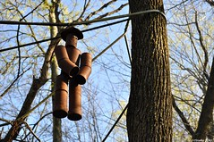 Tin Man (Studio 9265) Tags: old city usa brown man tree art apple face museum america vintage garden toy tin photography artwork nikon rust outdoor kentucky ky united rusty can dirty valley hanging states recycling hillbilly calvert obsolete offbeat repurpose 2016 unconventional d5000