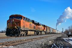 A thing of the past? (Machme92) Tags: railroad sky power rail row bn missouri rails coal ge railyard railfan bnsf railroads kline railroading railfanning gevo railfans burligrton