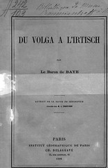 1896. Baye, Joseph de. Du Volga a l'Irtisch__01 (Library ABB 2013) Tags: rsl 1896   bayejoseph