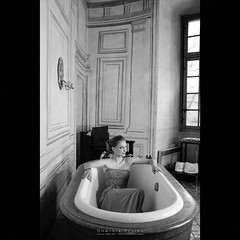 Wet Bedroom (dominikfoto) Tags: bw bathroom hotel fuji chic decadence salledebain fusina fusinadominik x100s