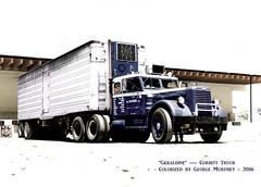 Geraldine Corbitt Colorized (gdmey) Tags: colorized geraldine semitruck vintagetruck corbitt corbitttruck