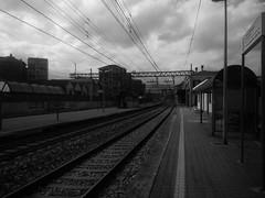 Stazione di Collegno (TO) (simone.dibiase) Tags: 2 3 train torino 1 trains bn uno e porta di fx tre stazione bianco treno nero susa due nuova treni binario bardonecchia modane scalo bussoleno collegno orbassano