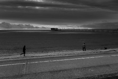 An evening on the beach (tabulator_1) Tags: monochrome blackwhite southport southportpier