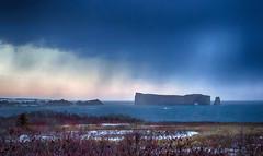 Incoming storm (Danny VB) Tags: gaspesie storm percé rock winter landscape canon eos 7d sigma30mm14 rocherpercé canon7d hiver snow neige ocean water atlantic