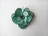 Little silk rose hair snap pin - emerald green and black (simutes) Tags: sea baby green silk emerald hairpin seafoam silkpainting babyhair seagreen emeraldgreen hairaccessory snappin naturalsilk