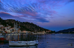 View of Poros island. Sunset time (theseustroizinian) Tags: trip sunset sea vacation seascape beauty port canon landscape island seaside gulf ngc hellas greece hdr saronic poros hellenic goldenhours seasunandclouds canoneos700d simplysuperb