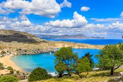 Spiaggia Di Lindos (yann.dimauro) Tags: mer ile gr rhodes grce lindos mditerrane egeo ge