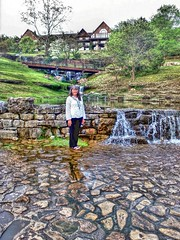 My Wife. My Love. Cascading Spring at Top Of The Rock Big Cedar Lodge near Branson, Missouri Beautiful Woman Ozarks Streamzoofamily Waterfalls at Big Cedar Lodge ( iStone ) Tags: spring missouri waterfalls beautifulwoman ozarks branson topoftherock mylove mywife cascading bigcedarlodge streamzoofamily