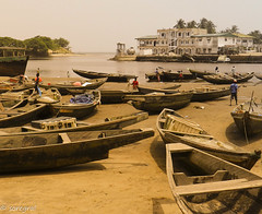 In Kribi harbour (soregral) Tags: sable bateau cameroun afrique