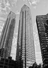 West Side 58-Story... (RALPHKE) Tags: city nyc newyorkcity travel urban usa newyork building tower architecture america skyscraper canon silver buildings blackwhite flickr skyscrapers unitedstates towers architectural american twintowers westside bigapple hellskitchen urbanlandscape 42ndstreet tallbuildings residentialbuildings highrisebuildings silvertowers twinbuildings riverplaceii canoneos750d sivertowersnewyork riverplaceiinewyork