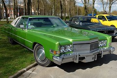 1974 CADILLAC Eldorado verte (xavnco2) Tags: france classic car 1974 meeting cadillac eldorado american amiens verte picardie somme raduno anciens rassemblement vhicules lahotoie arpaa