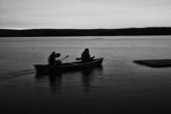 Failed whip-pan (@jakeolivermoss) Tags: blackandwhite lake water digital canon fun cottage lakeside canoe nd graduated whippan 60d