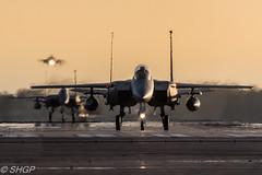 F-15E Strike Eagles, RAF Lakenheath (harrison-green) Tags: color colour speed canon airplane rainbow force mud eagle outdoor aircraft aviation air united jet royal fast sigma vehicle strike states hen usaf vapour raf lakenheath f15e usafe 700d 150500mm
