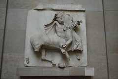 a Centaur makes off with a Lapith woman (Mr. Russell) Tags: england london greek ancient greece marble britishmuseum elginmarbles centaur lapith