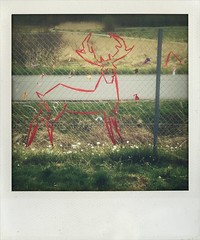 deer (larsniel) Tags: red streetart art hilarious wire band deer amager amagerflled