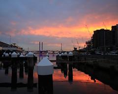 (simon60d) Tags: bridge sunset art water skyline architecture clouds marina buildings landscape outdoors afternoon dusk melbourne posts
