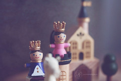 Wooden Musical Toy (Serena178) Tags: macro cute castle toys wooden princess bokeh prince musical crown royals macromonday
