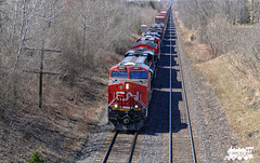CN 2807 (Ramblings From The 4th Concession) Tags: freighttrains cnrail gelocomotives es44ac cndundassub panasonicfz1000 cn2807