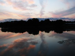 Sweet Reflections (Cher12861) Tags: sunset lake nature water beauty reflections landscape silhouettes chicagobotanicgarden glencoeillinois gloriouscolors onthebridgetoeveningisland