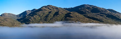 Stitched Inside Passage Pano (Ron Scubadiver's Wild Life) Tags: chile sea sky mist mountains clouds landscape nikon coastal inside passage 70300