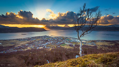 The local village (Kenneth Solfjeld) Tags: sunset sea sky sun norway clouds outdoors norge spring nikon hiking arctic nikkor northern nordnorge noreg helgeland nordland northernnorway nesna