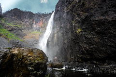 (catie`) Tags: travel cliff mountain fall nature water rock forest river dark landscape waterfall bush rainforest australia hike adventure explore queensland tropical rockpool