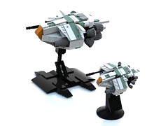 WhiteGhost 2.0 Twins (tsower) Tags: lego space spaceship moc ldd whiteghost bluerender