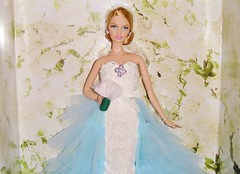 2016 Oscar de la Renta Bride Barbie (6) (Paul BarbieTemptation) Tags: de gold bride la oscar designer label barbie series brides 2016 renta