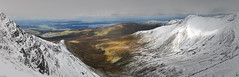 Wintry Carneddau 09 (Ice Globe) Tags: winter panorama white mountain snow mountains cold nature wales 35mm landscape frozen nikon view snowy scenic panoramic views snowing icy snowdonia bethesda wintry dafydd anglesey carneddau afon carnedd llafar landsacpes d5100