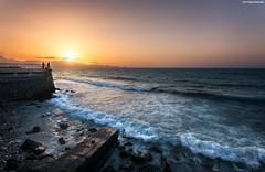 IMG_2405 (Lefteris Kriaris) Tags: sunset sky people seascape fishing waves greece crete heraklion