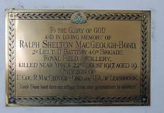 St Peter's, Dixton, Monmouth 28 April 2016 (Cold War Warrior Follow Me on Ipernity) Tags: stpeters church chapel monmouth ww1 ra ypres royalartillery rfa royalfieldartillery dixton 2ndlieutenantralphsheltonmacgeoughbond
