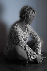 sitting 1.jpg (Mary&Neil) Tags: blackandwhite bw woman portraits mono mary elements fz200