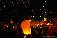 Evening thousands wishes (Martin Hlinka Photography) Tags: city building architecture night canon landscape eos evening photo outdoor wishes lampion thousands 2015 veer ilina f4556 60d 1018mm tiscov elan