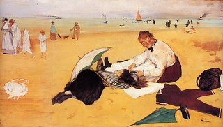 'Beach Scene' by Edgar Degas (1834-1917)